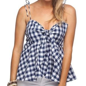 BuddyLove Navy Gingham Mallory Top